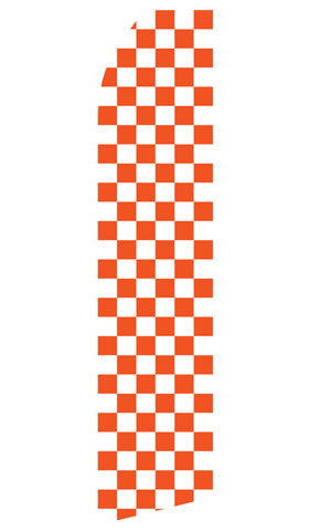 Orange Checkered Econo Stock Flag