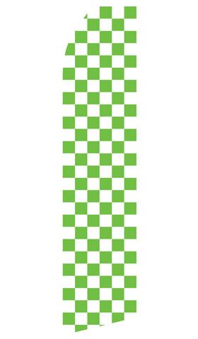Green Checkered Econo Stock Flag