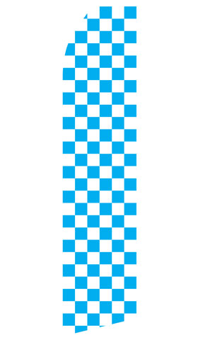 Blue Checkered Econo Stock Flag