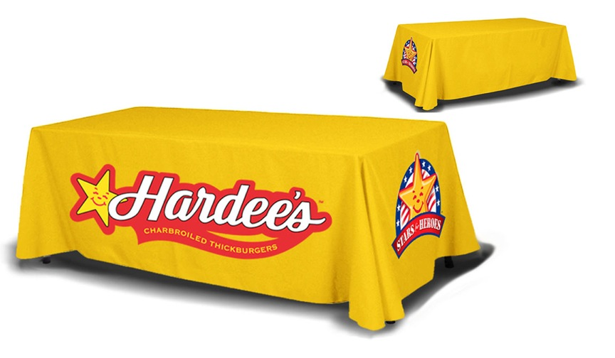 8ft Table Cover 4 sided (full back)