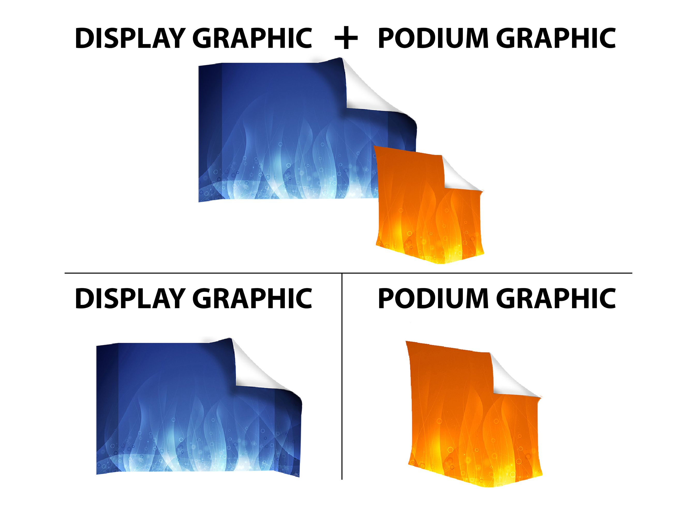 10ft Straight Velcro Fabric Pop Up Display (Graphic Replacement)