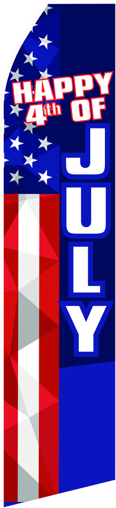 Happy 4th of July Econo Stock Flag