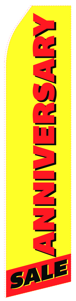 Anniversary Econo Stock Flag