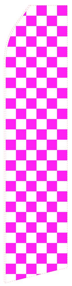 Magenta Chessboard Econo Stock Flag
