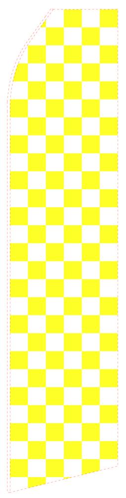 Yellow Chessboard Econo Stock Flag