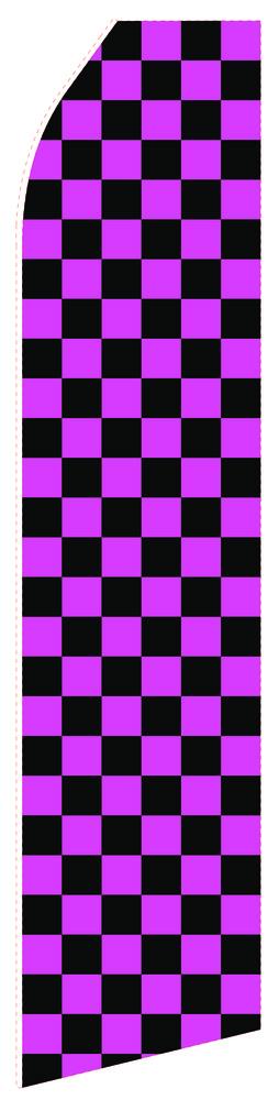 Magenta Black Econo Stock Flag