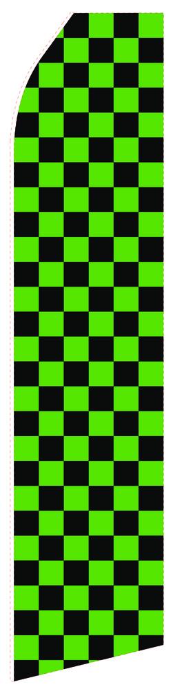 Black Green Econo Stock Flag