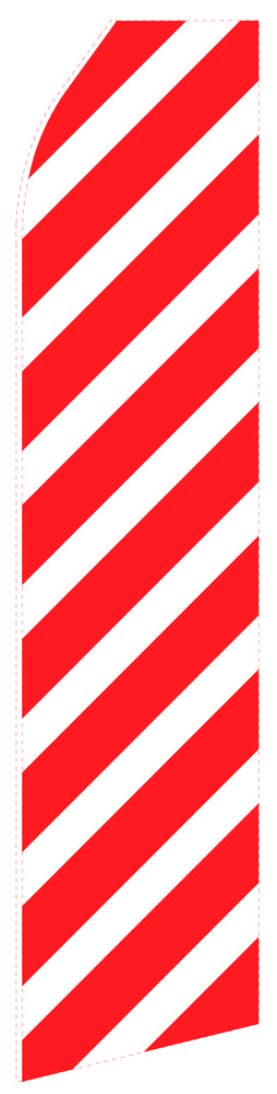 Red Ribbed Econo Stock Flag