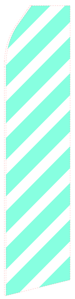 Ribbed Cyan Econo Stock Flag