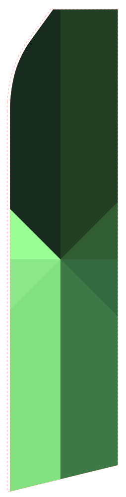 Multi Green Econo Stock Flag