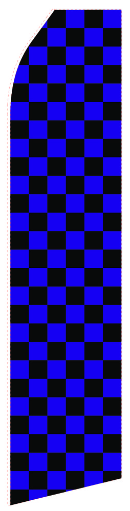 Blue Black Chessboard Econo Stock Flag