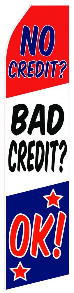 No Credit OK Econo Stock Flag