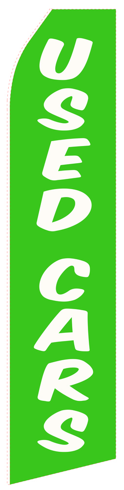 Green Used Car Econo Stock Flag