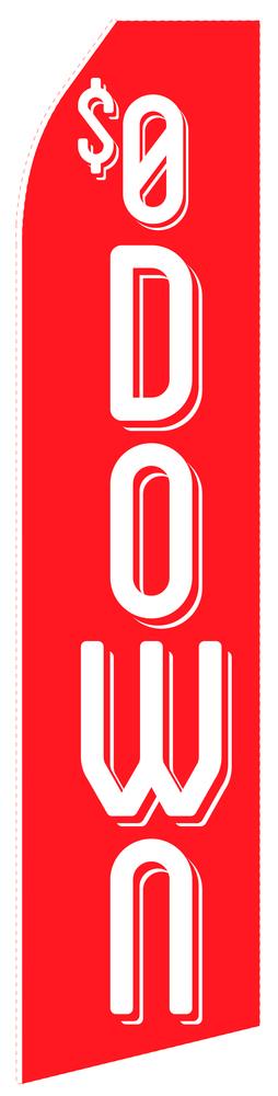 $0 Down Econo Stock Flag