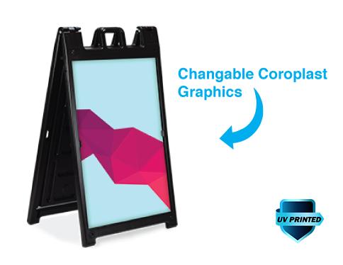 Black Signicade Deluxe Coroplast Graphics