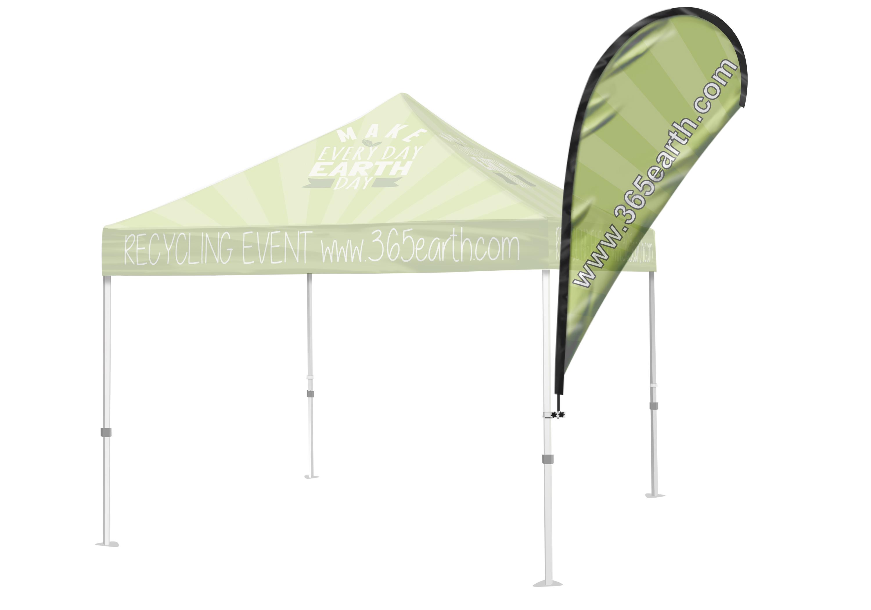 Tent Flag  (Teardrop Medium)