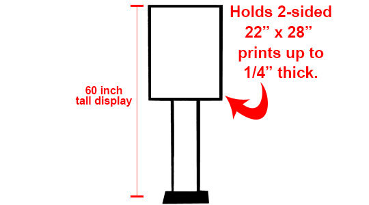 """22"""" x 28"""" Poster Stand (Hardware Only)"""