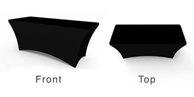 SOLID BLACK STRETCH TABLE COVERS