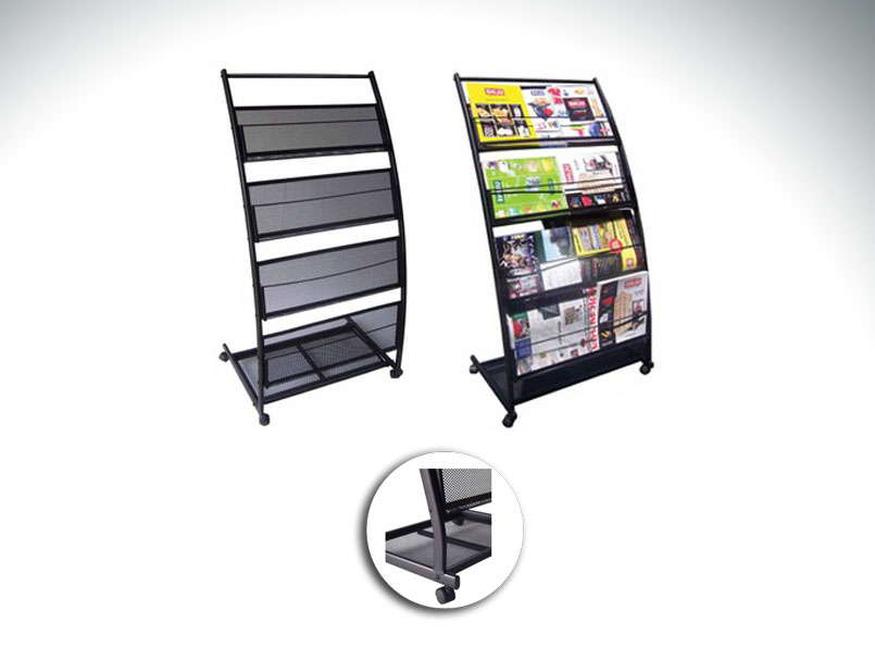 4-shelf Literature Rack