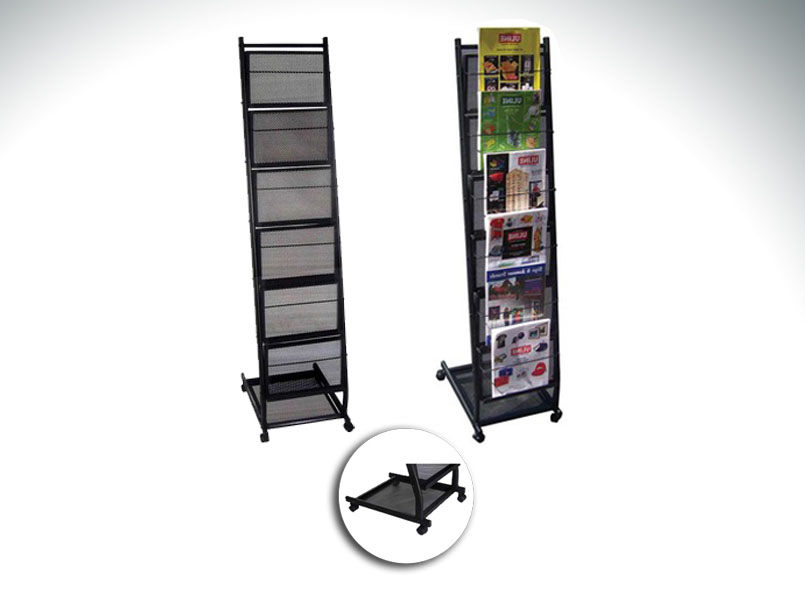 6-pocket Mobile Literature Rack (small)