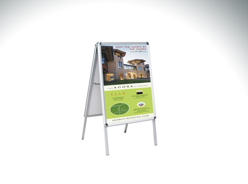 A-Frame Double-sided Sidewalk Poster Sign 19